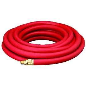 Amflo 552 25AE Red 300 PSI Rubber Air Hose 3/8 x 25 With 1/4 MNPT