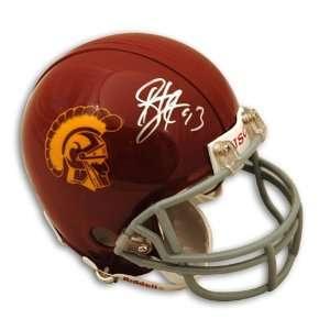 Autographed/Hand Signed USC Trojans Mini Helmet