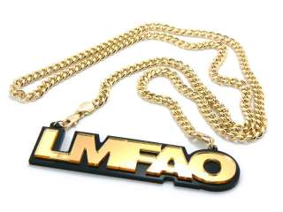 SORRY FOR PARTY ROCKING LMFAO Charm Pendant Necklace 36 6mm Cuban