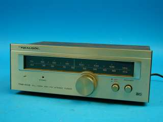 Realistic AM/FM Stereo Radio Tuner TM 102 Walnut Case