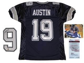 Miles Austin Dallas Cowboys SIGNED Home Jersey JSA WPP