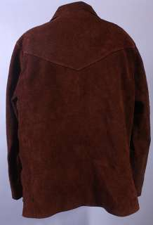 MENS VTG SOFT LEATHER PULLOVER HIPPIE/ROCKER SHIRT sz M