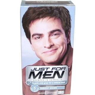 for Men Shampoo In Hair Color, Darkest Brown 50, Packaging May Vary, 1