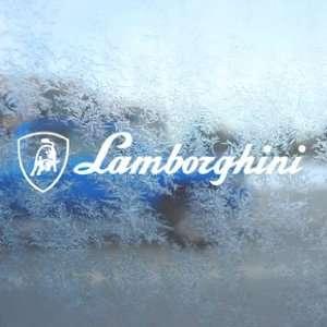 Lamborghini White Decal Logo Bull Car Window Laptop White