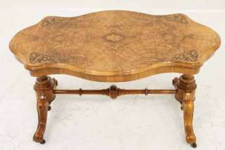 Scottish Victorian Inlaid Walnut Sofa, Coffee, End Table |