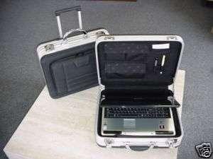 ROLLING ALUMINUM FRAME COMPUTER CASE BAG BRIEFCASE