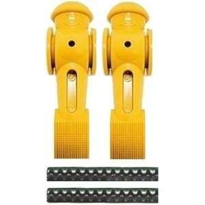 2 Yellow Tornado Foosball Men Counter Balanced Pin Sports