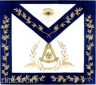 HAND EMBROIDERED MASONIC PAST MASTER APRON (MA 177 S)