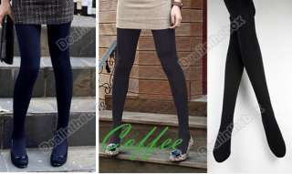 Winter Fashion Slim Fleece Tights Pantyhose Warmers Women Stockings 5