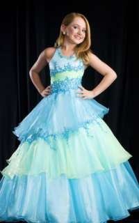 GIRLS NATIONAL PAGEANT PARTY WEDDING DRESS GLITZY BALLGOWN