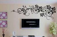 Vine Flowers Trees Wall Stickers / Wall Decals Vinyl Art Decal JM7017