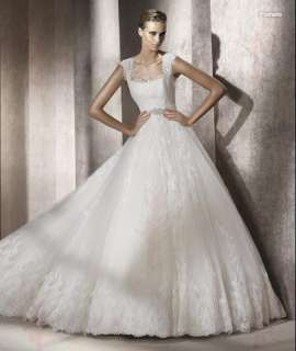 Applique Beaded Wedding Dresses/Gowns Size6 8 10 12 14 16 18