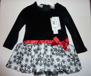 New w/Tags Koala Kids Christmas Black (velvet feel), White, Red