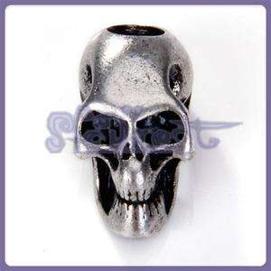 paracord knife lanyards Skull Bead Charm Pendant Silver