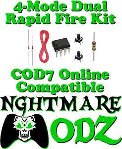 Xbox 360 Rapid Fire Mod Chip Kit CoD4 CoD6 Halo Gears