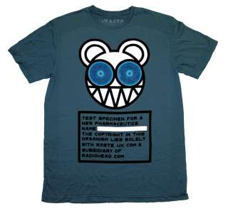 Radiohead Bear Logo Test Specimen Rock Band Soft Organic T Shirt Tee