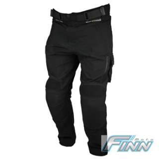 Black Cargo Cordura Kevlar Motorcycle Waterproof Pants