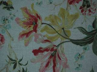 Kaufman Linen Texture Floral Drapery Upholstery Fabric