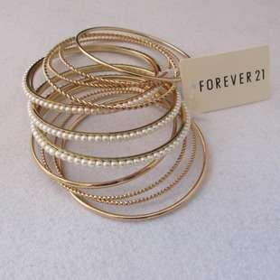 New Vintage Style Multi layer White Beads Circle Bangle Bracelets