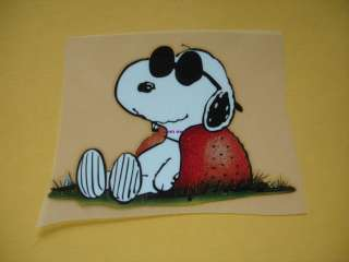 SNOOPY JOE COOL PEANUTS CHARLIE BROWN Iron On Patch Heat Transfer