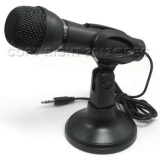 VOCAL MICROPHONE MIC WITH STAND MOUNT FOR PC HANDS FREE NEW