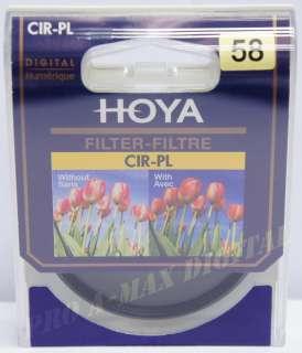 HOYA 58mm Circular Polarizer Digital CPL Filter 58 mm 024066580191