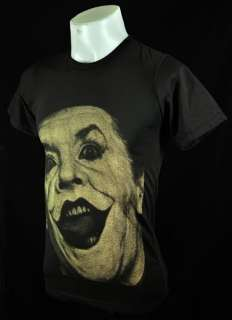 Joker Jack Nicholson Retro Rock Movie Star Dark Grey Tee T Shirt Size