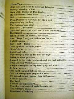 1865 DRUM TAPS WALT WHITMAN 1ST EDITION W/SEQUEL LILACS POETRY LEAVES
