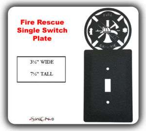 FIRE RESCUE FIREMAN Light Switch Plate Cover ~NEW~