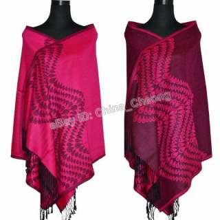 New Elegant Womens 100% Pashmina Wool Shawl/Wraps/Scarf