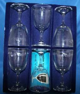 Crystal Glassware Irish Coffee Glasses Etched