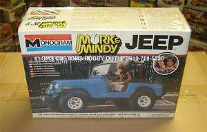 MONOGRAM Plastic Model Kit # 2261 Mork & Mindy JEEP 1/25 Scale Vintage