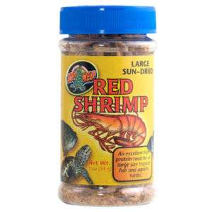 Fish Turtle Food Jumbo Red Shrimp Sun Dried .5oz ZM 160