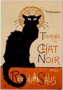 Le Chat Noir Black Cat Cabaret Poster • Postcard #1
