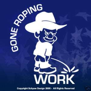 Gone Calf Roping rodeo PBR window decal sticker cowboy
