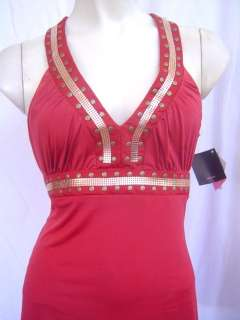New Baby Phat Brown Gold Halter Top S