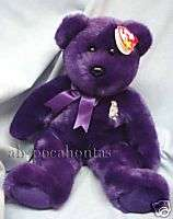 Ty Beanie Buddies ~~PRINCESS the Purple Bear~~ Retired