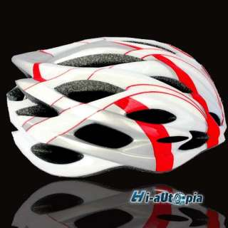 New Cool EPS PVC 24 Holes Sports Bike Bicycle Cycling White & Red