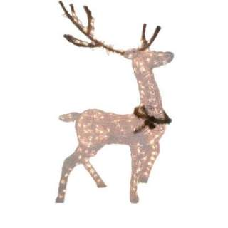 60 in. 200 Light White PVC Grapevine Deer HD110506 1 at The Home Depot