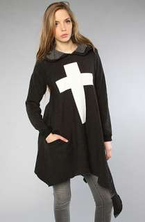 Wildfox The Simple Cross Angel Hoodie in Clean Black  Karmaloop