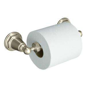 Pinstripe Wall Mount Toilet Paper Holder in Vibrant Brushed Nickel