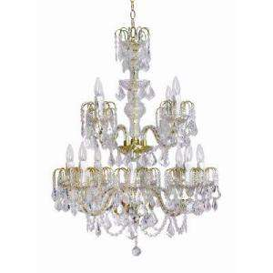 Roxy Lighting Contessa 12 Light Polished Brass Foyer Chandelier with
