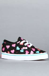 Vans Footwear The Toddler Authentic Sneaker in Black Candy Hearts