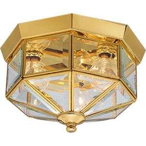 Progress Lighting Polished Brass 3 light Flushmount P5788 10 at The