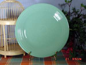 Fiesta® SEAMIST Large CHOP Plate / CHARGER #467 Liquidation SALE