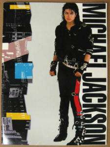 MICHAEL JACKSON Bad Tour JAPAN 1988 Concert Program