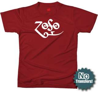 Zoso Jimmy Symbol Zeppelin Rock Retro Music New T shirt