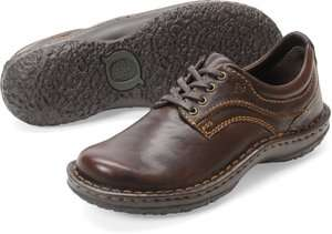 Womens Born Lace Up Oxford Shoe Jean Brown Leather W81595