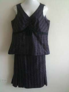 New York purple and black 2 piece dress 16W.