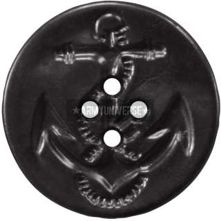 Military US Navy Style Anchor Peacoat Buttons (25 Buttons)